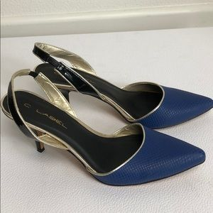 C Label Blue Heels